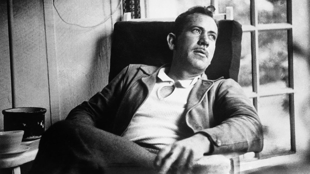 American author John Steinbeck, takes a rest from intense work on a new novel in an undated photo. (AP Photo)